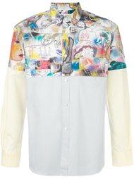 рубашка с контрастными рисунками Comme Des Garçons Shirt