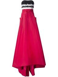 вечернее платье в стиле колор-блок  Carolina Herrera