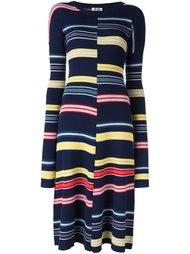 трикотажное платье в полоску Kenzo