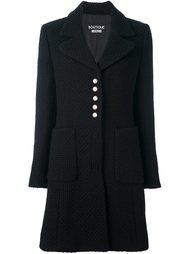 пальто с пуговицами-жемчужинами Boutique Moschino