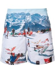 mountain print bermuda shorts Orlebar Brown
