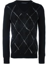 свитер с необработанными краями   Alexander McQueen