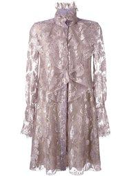 платье с рюшами Lanvin