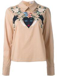 рубашка с цветочной вышивкой  Vivetta