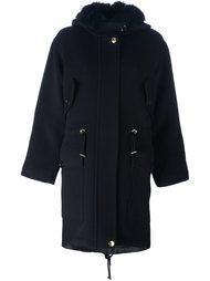 пальто с меховым воротником Boutique Moschino