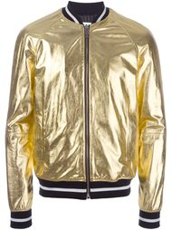 куртка-бомбер с металлическим отблеском  Les Hommes Urban
