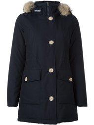 пальто с меховой оторочкой Woolrich