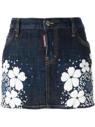 джинсовая юбка мини 'Tokyo Flower' Dsquared2