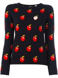свитер с принтом яблок  Chinti And Parker