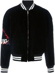 бархатная куртка с вышивкой Maison Margiela