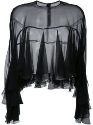полупрозрачная блузка с рюшами Philosophy Di Lorenzo Serafini