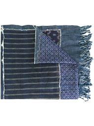 шарф с узором и бахромой Ermanno Gallamini