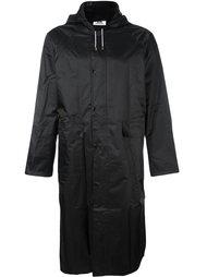 пальто с капюшоном и логотипом Gcds