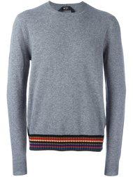 пуловер с подолом в полоску Nº21