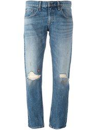 джинсы с рваными деталями   Rag & Bone /Jean