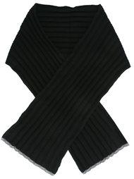вязаный шарф в рубчик  Brunello Cucinelli