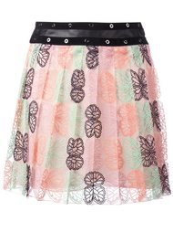 плиссированная юбка с узором в виде бабочек Giamba