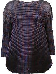 'Grid Pleats' blouse Issey Miyake