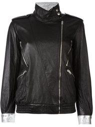 куртка на смещенной молнии Saint Laurent