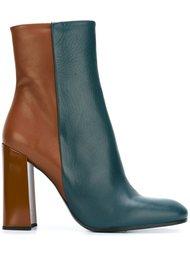 двухцветные ботинки на каблуке Jil Sander