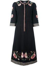 платье с цветочной вышивкой  Vilshenko