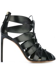 туфли-лодочки на молнии и шнуровке Francesco Russo