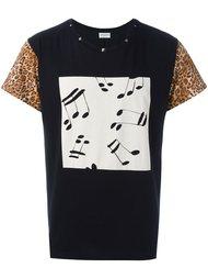 футболка с контрастными рукавами Saint Laurent