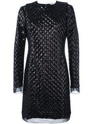 стеганое платье с заклепками Emanuel Ungaro
