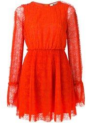 плиссированное платье мини MSGM