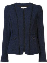 zipped pockets fitted jacket Rebecca Taylor