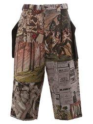 multi print cropped trousers Maison Mihara Yasuhiro