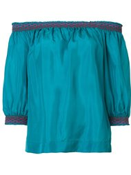 off-shoulders three-quarters sleeve blouse Trina Turk