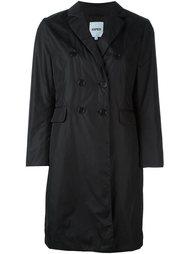 двубортное пальто с карманами с клапанами Aspesi