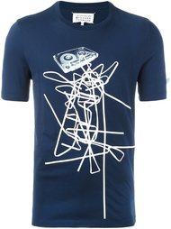 футболка с принтом аудиокассеты Maison Margiela
