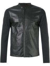 кожаная куртка на молнии Emporio Armani