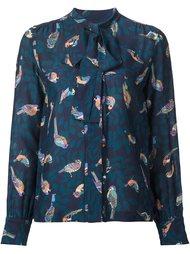 блузка с принтом птиц  Elizabeth And James