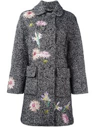 твидовое пальто с вышивкой Blumarine