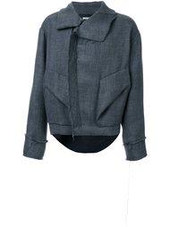 объемная куртка с необработанными краями Moohong