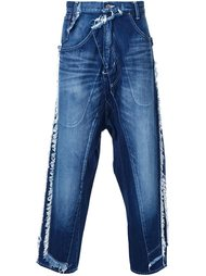джинсы с заниженным шаговым швом Miharayasuhiro