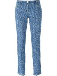 джинсы кроя слим 'NY Stripes' Kenzo
