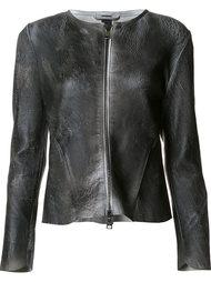 кожаная куртка с потрескавшимся эффектом Giorgio Brato