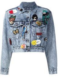 джинсовая куртка с нашивками Alice+Olivia