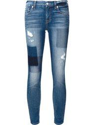 джинсы кроя скинни в стиле пэчворк  7 For All Mankind