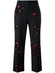 брюки в полоску с цветами Marc Jacobs