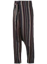 зауженные брюки в полоску Forme D'expression