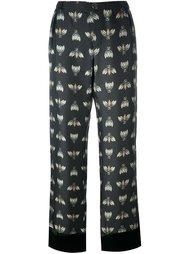 брюки с рисунком в виде насекомых For Restless Sleepers