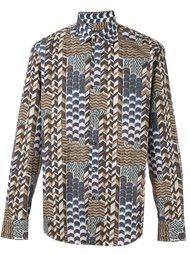 рубашка с абстрактным принтом Salvatore Ferragamo
