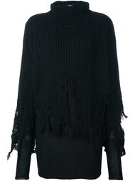 многослойный свитер с необработанным подолом Yang Li