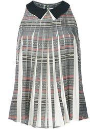 плиссированная блузка с классическим воротником Cotélac