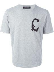 """футболка с вышивкой """"С"""" Christian Pellizzari"""